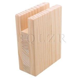 Image 5 - BQLZR 10x5x13.2cm עץ שולחן שולחן מיטת רצועות מעלית מתאמן ריהוט אחסון עבור 2CM חריץ רגליים עד 10CM מעלית חבילה של 4