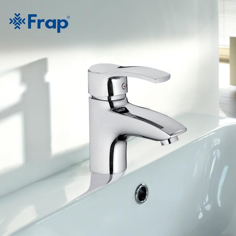 Frap высокого качества латунь одно отверстие Ванная комната Смесители для умывальника горячей и холодной воды смеситель + 2 шт. шланги f1070