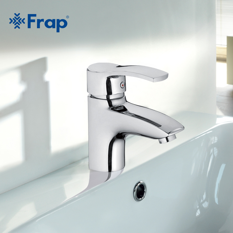 Frap High-quality Brass Single Hole Bathroom Basin Faucets Hot and Cold Water Mixer Tap+2 pcs Hoses F1070