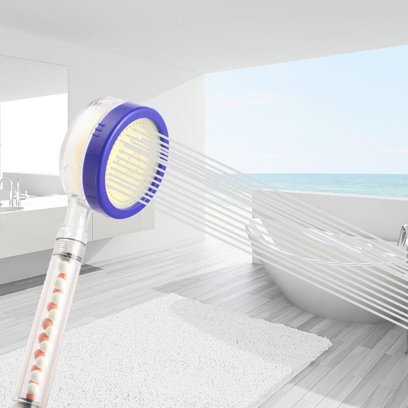 Healthy Negative Ion SPA REJUVENATE Vitamin C Filtered HandHeld Shower Head Water Pressure While Saving Water Shower Head