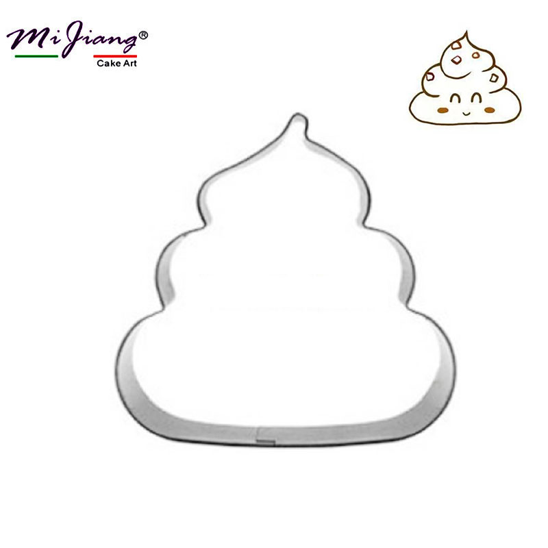 Us 1 13 40 Off Mijiang Cute Funny Shits Shape Biscuit Cookie Cutters Stainless Steel Fondant Cake Mold Metal Sugar Paste Cake Decorating Tool In