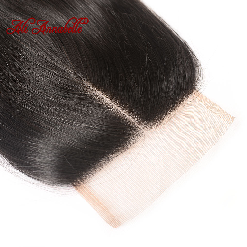HTB1rv6ZaU rK1Rjy0Fcq6zEvVXae ALI ANNABELLE HAIR Straight Hair Bundles with Closure 100% Remy Human Hair Bundles with Closure Brazilian Hair Weave Bundles