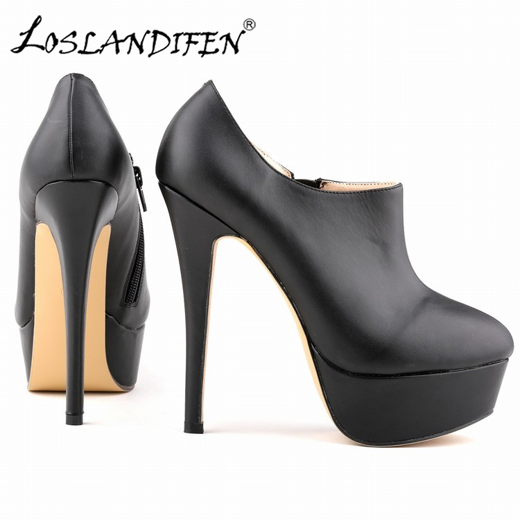 Platform Heels Pumps Women Extremely High Heels Shoes Ladies Casual Ankle Boots Nightclubs Sexy Party Shoes New Fashion 817-3MA