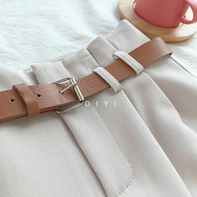Korean Brief Design White Suit Shorts   6