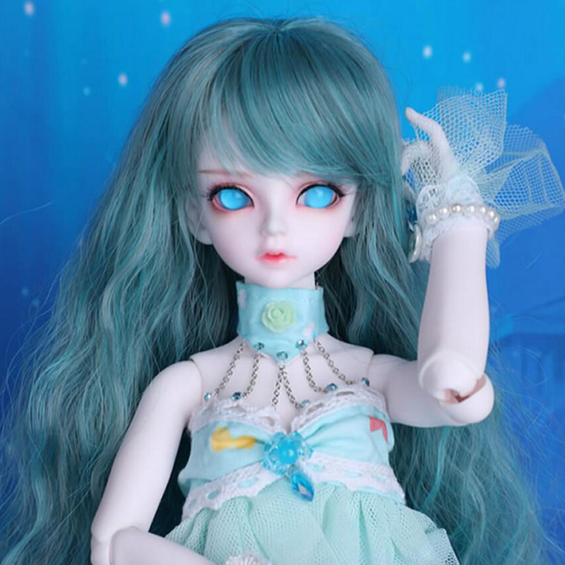 1/4 BJD Doll SD Fashion Cute Rico Fish Mermaid Joint Reborn Model Doll With Eyes For Baby Girl Birthday Gift Present new arrival 1 4 bjd doll bjd sd fashion cute fish mermaid resin doll for baby girl birthday gift