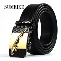 New Fashion Men S Business Genuine Luxury Leather Belt With Automatic Buckle