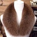 Мода натурального меха фокс женщин воротник 13 цвета 90 см/100 см/110 см твердые мягкая теплая осень дамы зимой шарф шали
