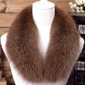 Moda real de piel de zorro mujeres de cuello de 13 colores 90 cm/100 cm/110 cm sólido caliente suave otoño invierno bufanda de las señoras chales
