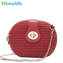 brand solid Candy Color red black white Oval Embossed lady Small Mini circular Women Messenger Crossbody