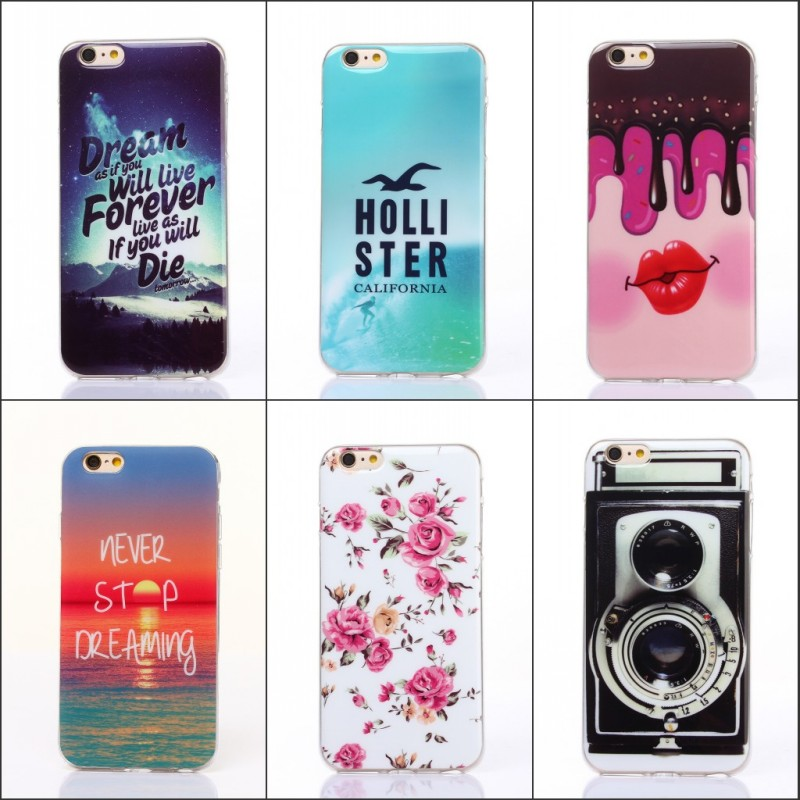 New Style Cute Cartoon Owl Pattern Soft TPU Case For Apple iPhone 6 6S Case 4.7″ Cover Phone Bag Protective Shel