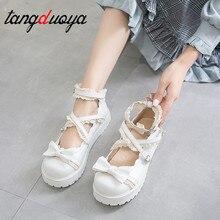 Обувь в стиле Лолиты; женская обувь для костюмированной вечеринки в японском стиле; цвет белый, красный, черный; обувь Kawaii; женские кроссовки в стиле Лолиты; милая обувь Zapatilla mujer