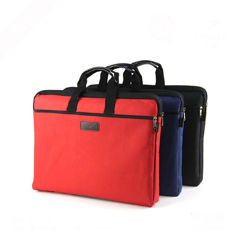 A4 File Bag Zipper Canvas Large Capacity File Package Office Business Briefcase