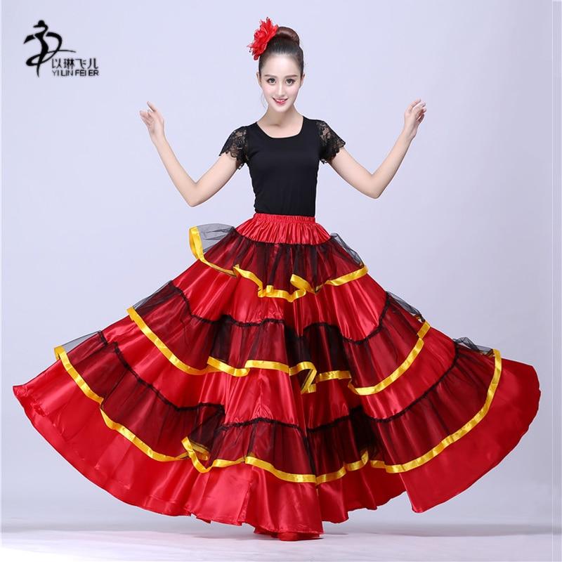 Full Circle Satin Long Skirt Swing Belly Dance Costumes Tribal New Satin skirts