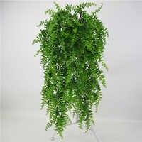 5 gabeln Künstliche Perlen Fleischigen grünen Reben Ivy zweige wand Hängen Kunststoff Rattan pflanze herbst hause hochzeit dekoration blumen