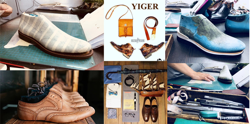 YIGER Genuine Leather Boots for Men 7