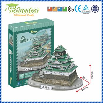 Gratis shipping3D Puzzle Model Japan building Osaka Castle Paper Diy model games