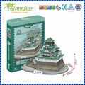 Free shipping3D Puzzle Model Japan building Osaka Castle Paper Diy   model games