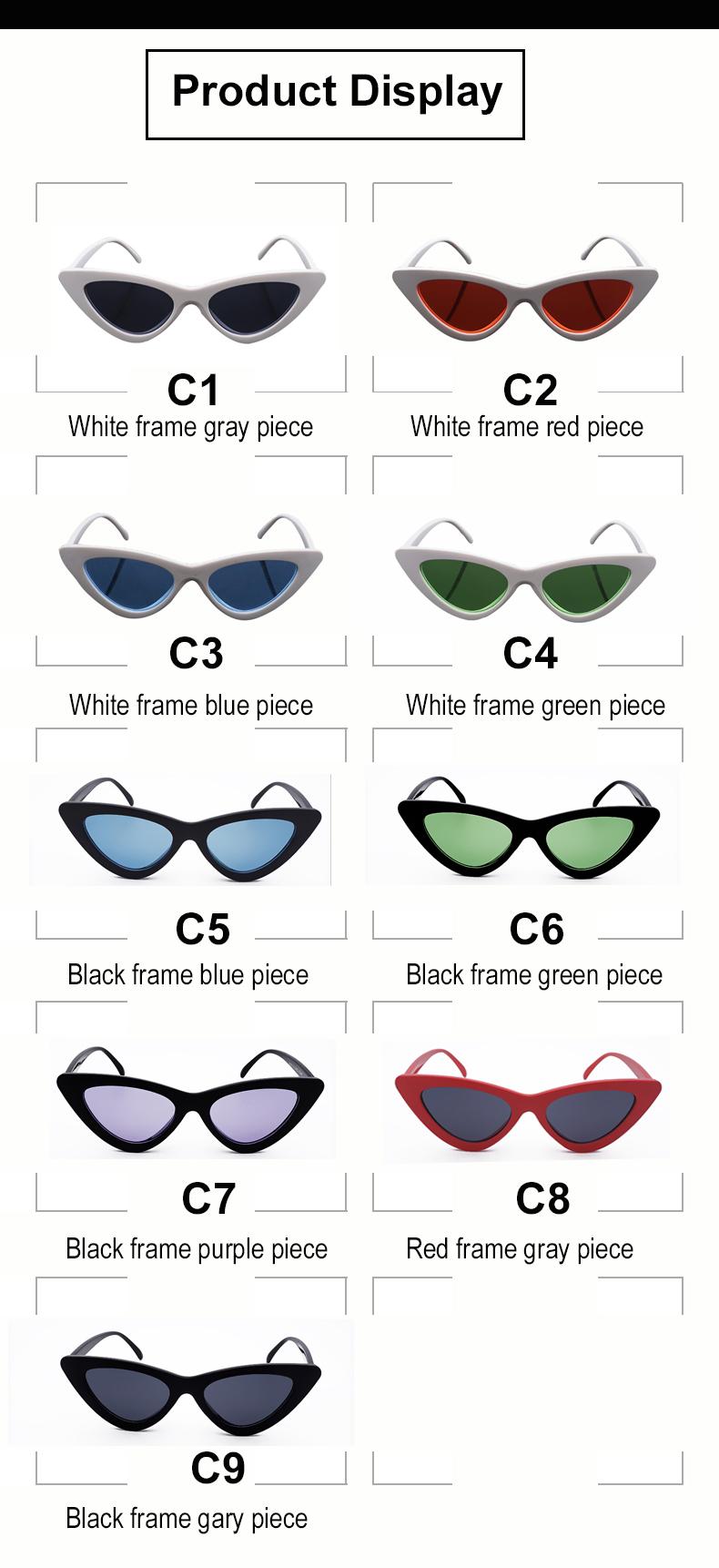 HTB1rv7enBUSMeJjy1zjq6A0dXXaM - WHO CUTIE 2018 Brand Designer Black Cat Eye Sunglasses Women Cool Small Cateye Frame Sun Glasses Fashion UV400 Shades WG-008