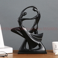 Gifts Home Decor Dancing Couple Sculpture statue Love Decoration Crafts Resin Figurines Lovers Ornaments Statue Modern 1pcs