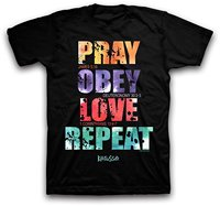 2017 New Men S T Shirt Round Neck Best Selling Male Natural Cotton Shirt Pray Obey
