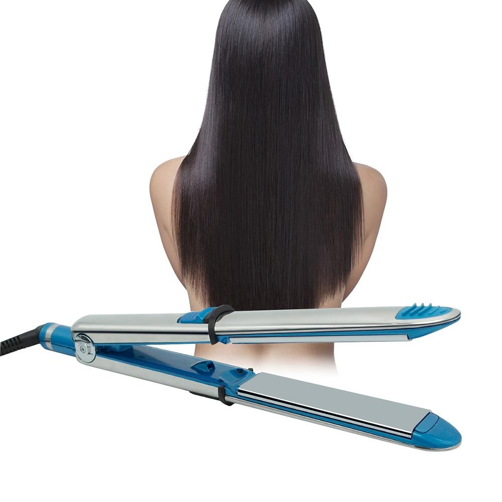 Professional Nano Titanium Flat Iron Ceramic Hair Iron Straightening Irons Curling Iron Curler  LED Display Electric Straightene