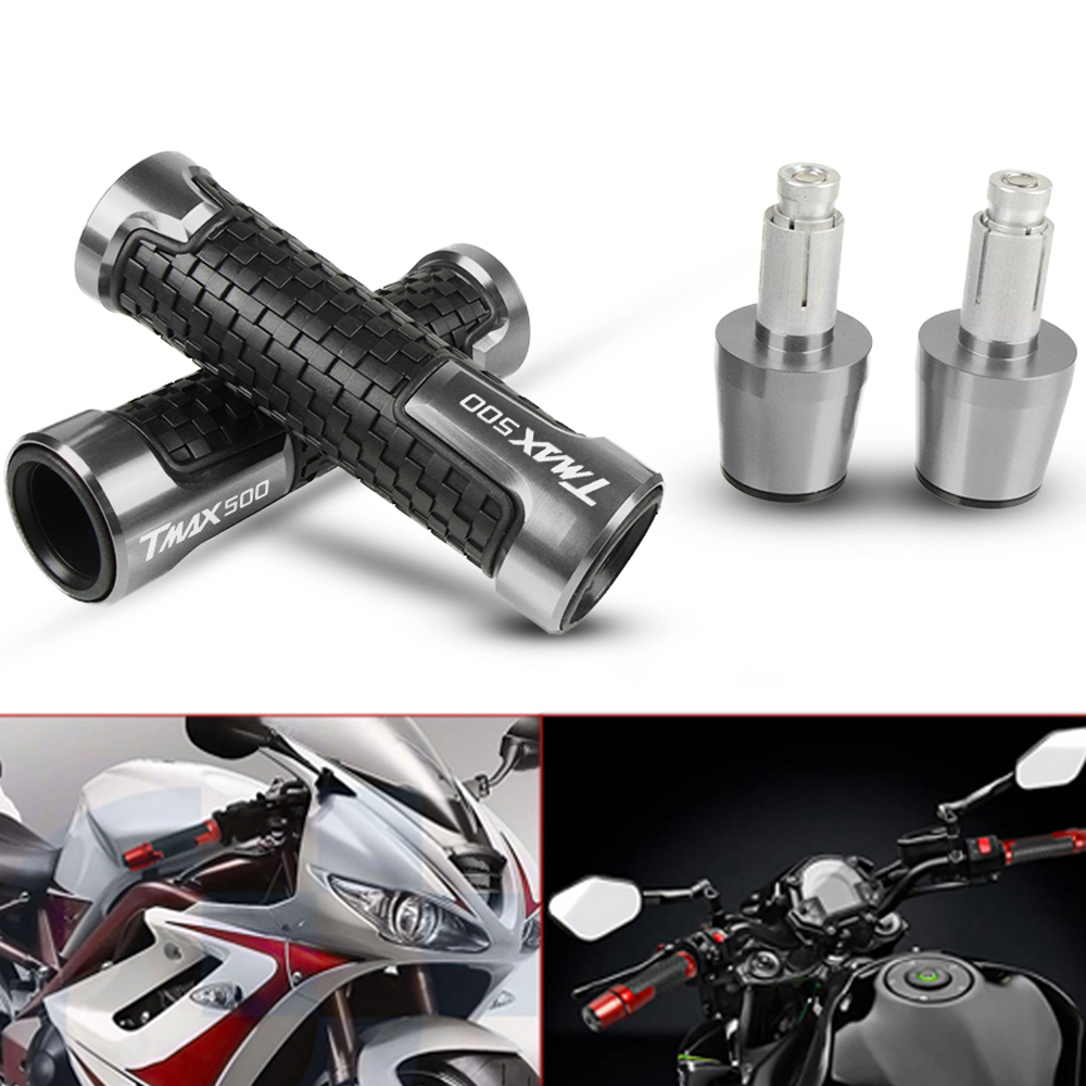For YAMAHA TMAX500 TMAX 500 2008-2018 2009 2010 CNC Motorcycles Handlebar Grips Motorbike Handle Hand Grips And Bar Ends Weights