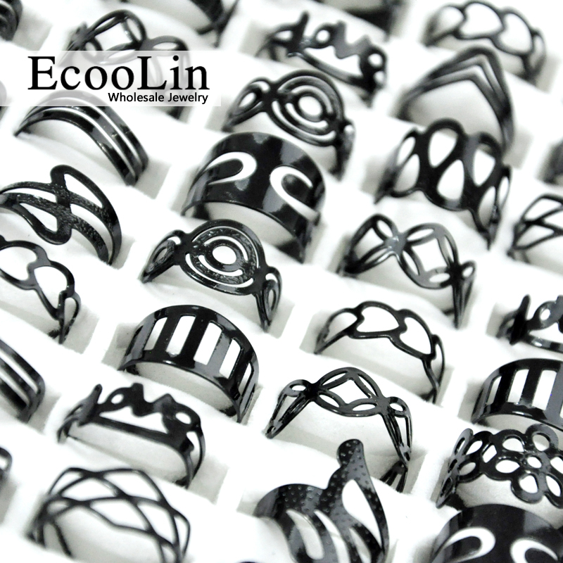50 Pcs Vintage Liga de Zinco Preto Cigana Ajustável Anéis de Dedo Tatuagem Lotes Anel do dedo do pé Para As Mulheres Homens Estilo Lotes de Jóias Mix BK4010