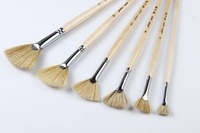 Paint Brushes with Mixed Weasel Hair & birch handle ,6 pcs/pack Chinese art brush