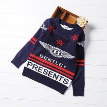 Nouvelle hiver garçons et filles coton à manches longues pull chaud motif décoratif chandail enfants 4-10 ans