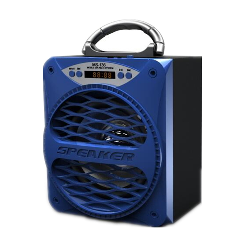 Ms 136bt Big Speaker Portable Bluetooth Aux Speaker Bass Wireless Subwoofer Outdoor Music Box Speakers Usb Led Light Tf Fm Radio