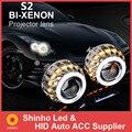 Preço de fábrica Do Carro Xenon BI ESCONDEU H4 H7 H1 Projetor Kits CCFL Duplo Angel Eyes Lente Do Projetor Lâmpadas À Prova D' Água Livre grátis