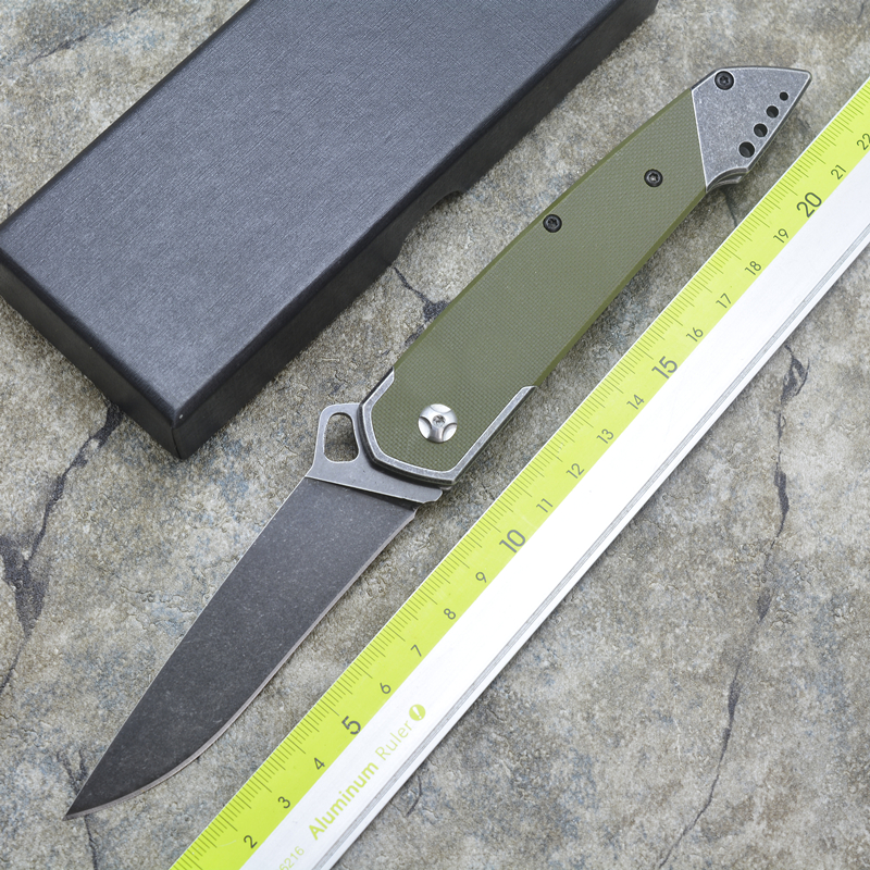 Tiger shark folding knife AUS-8 blade steel +G10 handle outdoor camping multipurpose hunting EDC tool hot sale ontario rat model 1 aus 8 folding blade fluorescent green g10 handle edc camping climbing tactical tool