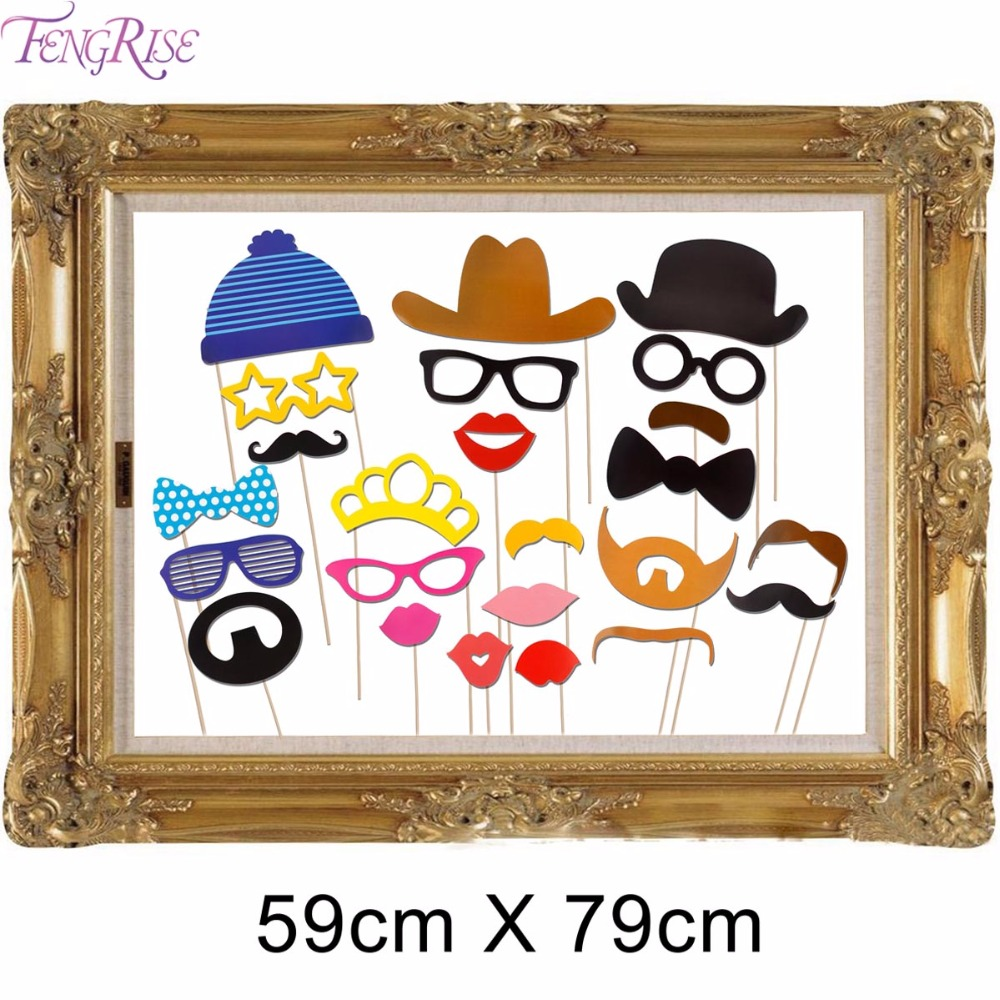 FENGRISE 24 Pieces Funny Booth Props Picture Frame