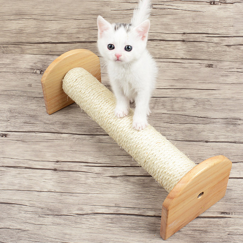 Cat Wall Scratching Post Tree Wall-Mounted Cat Sisal Shelf Pet Kitten Scratchers Board Toys Cat Climbing Frames