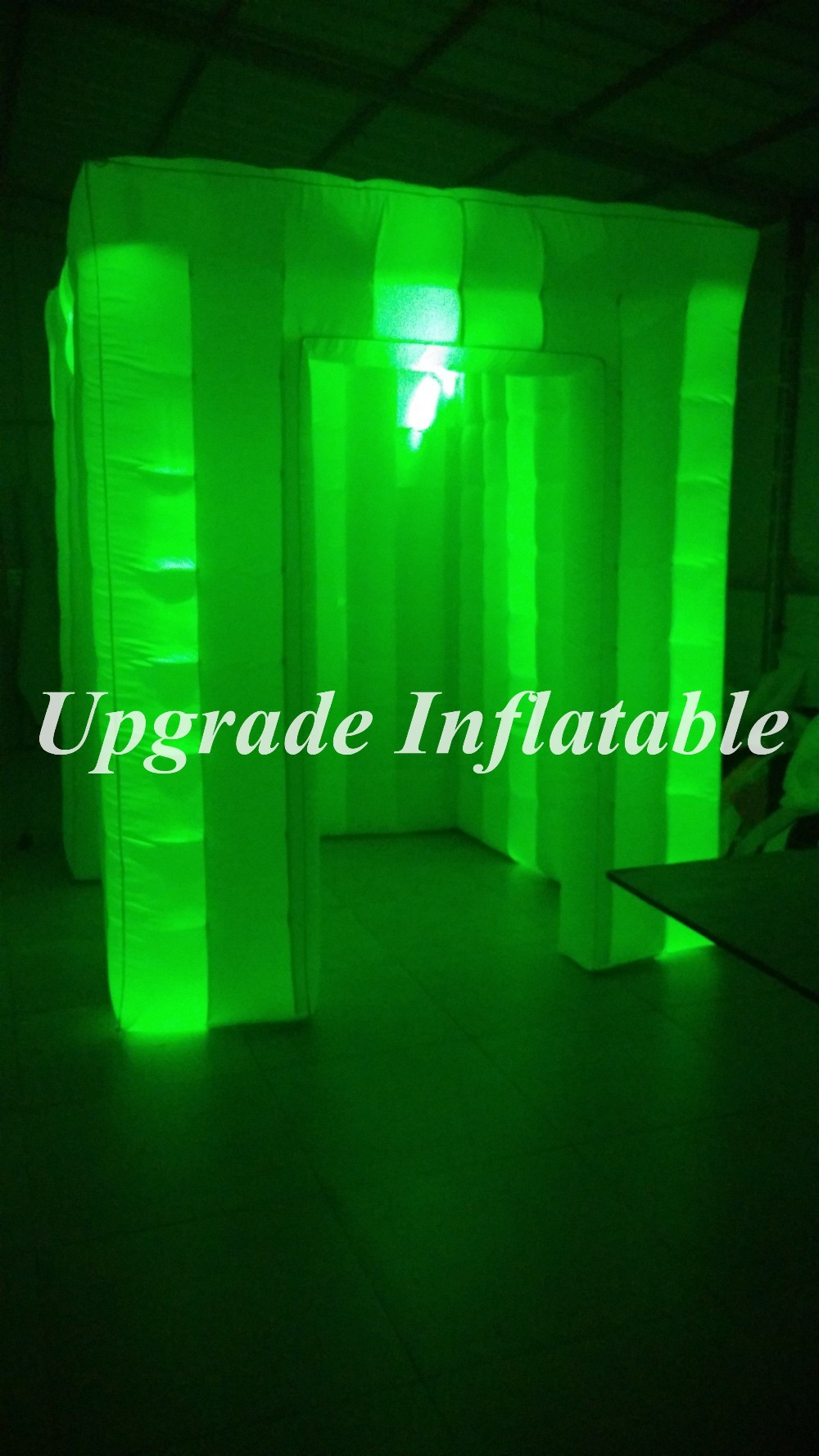 Color booth online - Coolest Cube Photo Booth Inflatable With Color Changing Background Lights China Mainland