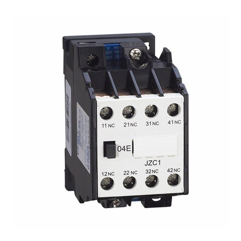 цена на AC Motor Contactor Relay Starter Ui 660V 4NC 24V 36V 110V 220V 380V 50Hz Coil Volt Ith 10A JZC1-04 35mm DIN Rail Mount Contactor
