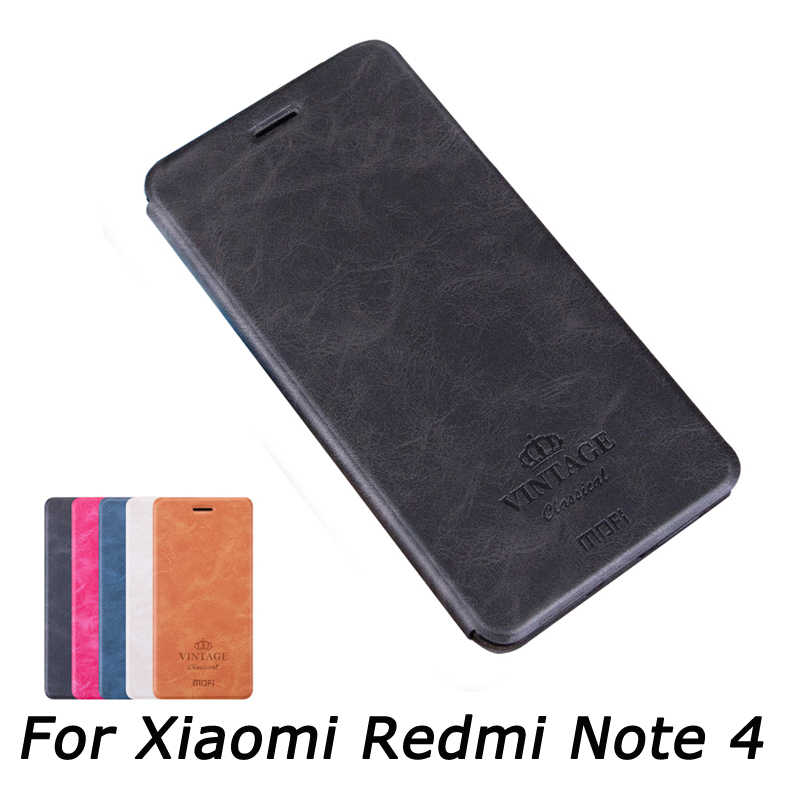 MOfi для Xiaomi Redmi Note 4 Чехол чехол из искусственной кожи с защелкой для Xiaomi Redmi Note 4 Pro 5,5 ''кожаный чехол-книжка с подставкой Чехол