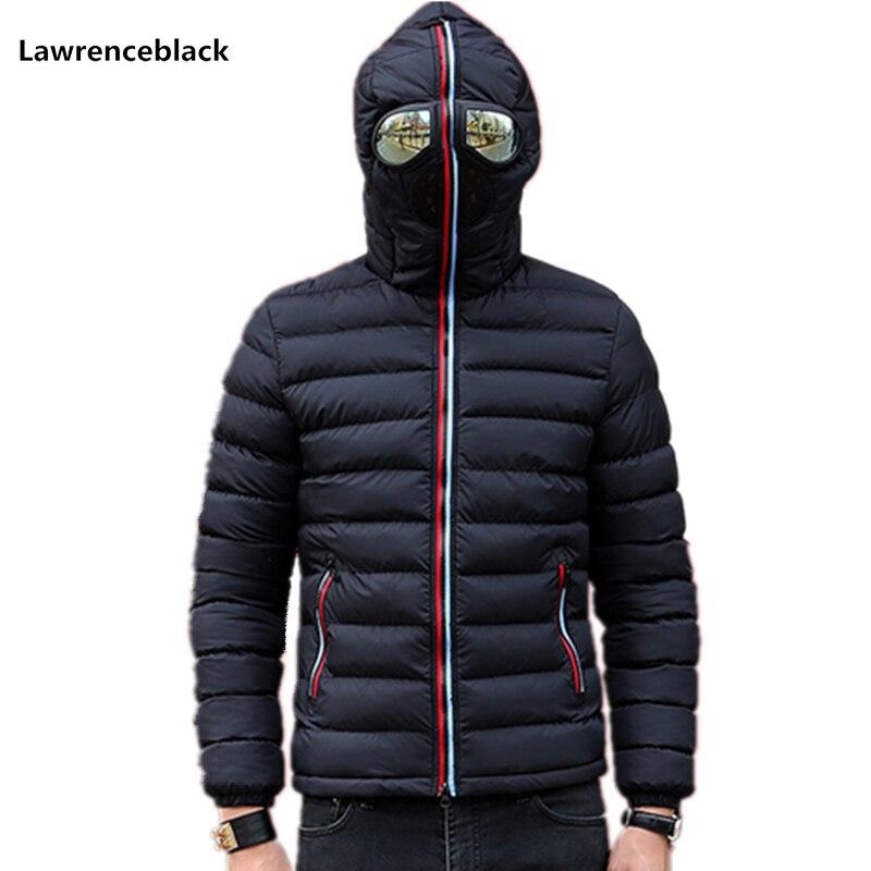 Lawrenceblack hiver vestes hommes Parkas avec lunettes rembourré à capuche manteau hommes chaud Camperas enfants coupe-vent matelassé veste 839