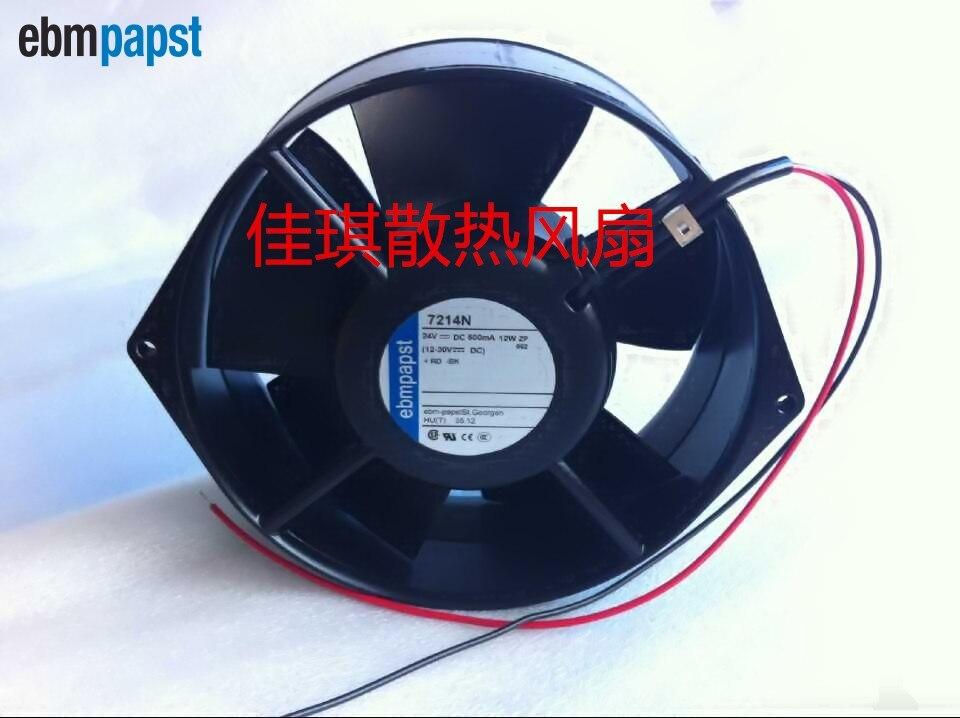 ebm papst Original  Blowers 7214N 15055 24V 12W wind capacity axial fan free shipping new original ebmpapst blowers 4412n 1238 12v 5 3w wind capacity