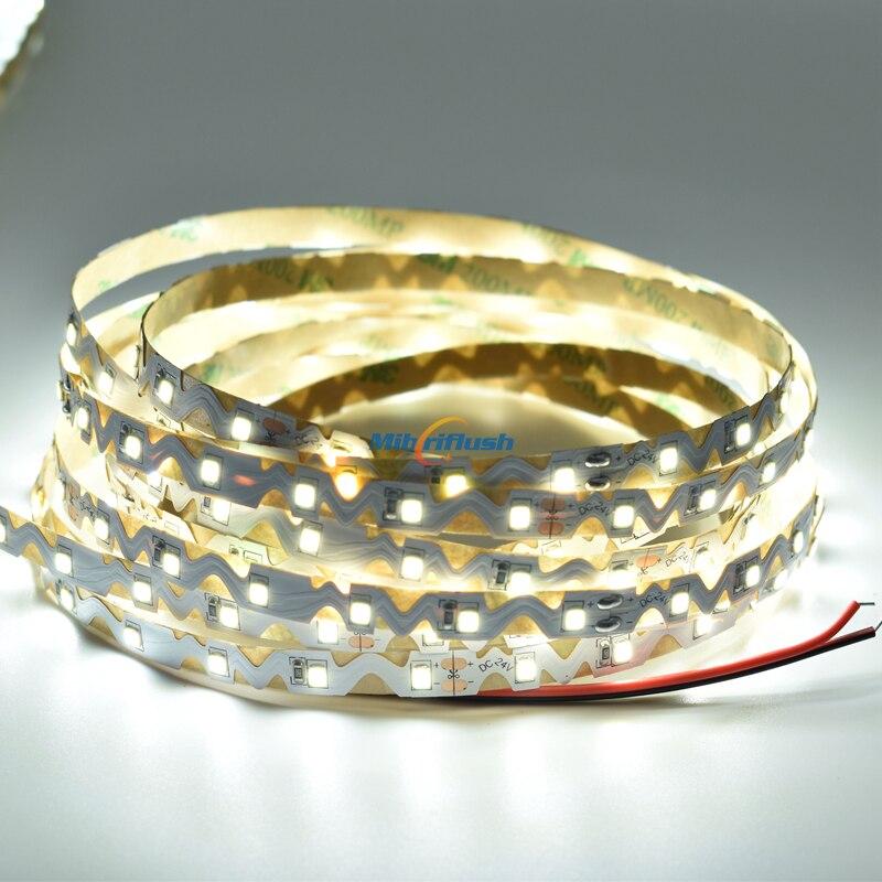 24V 12V 22-24LM/led SMD2835 LED strip Ultra Thin led Flexible Bendable Light for Channel Letter 60leds/M 100M/lot