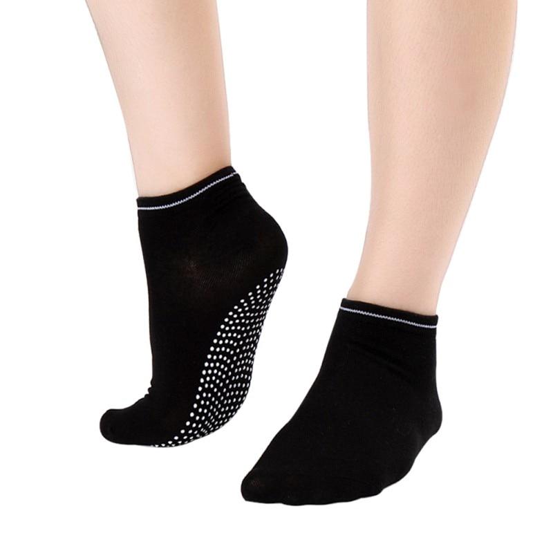Women Fitness Cotton Gym Sports Socks Non Slip Massage Yoga Pilates Socks 12 Colors Newest 2018 non slip toeless yoga socks with grip for women
