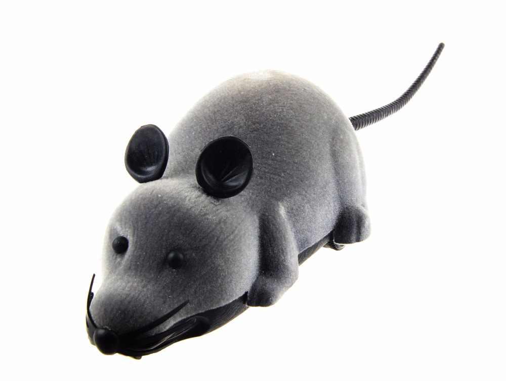 Grappige Afstandsbediening Rat Muis Draadloze Kat Speelgoed Nieuwigheid Simulatie Pluche Grappige RC Elektronische Muis Hond Huisdier Speelgoed Voor Katten speelgoed