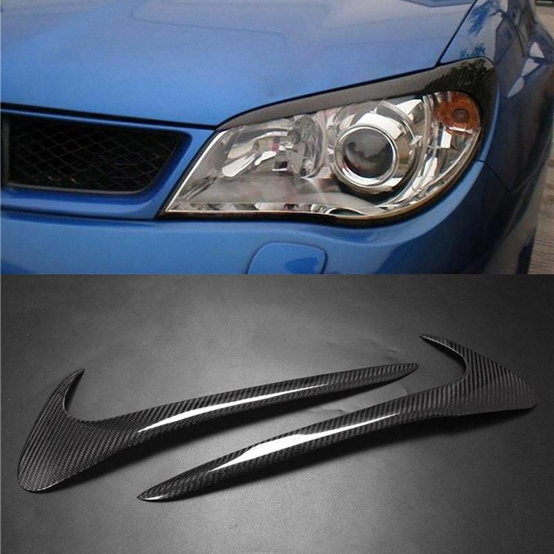 Autocollant de garniture de paupière de sourcils de couverture de phare de Fiber de carbone pour Subaru Impreza 2006-2013