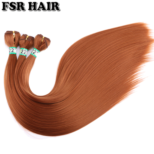 FSR 100 gram/pcs 613# Straight Hair Weaving 14-30 Inch Synthetic Hair Extensions double weft hair Bundles 6