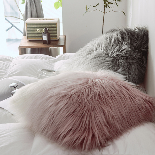 Soft Furry Cushion Cover