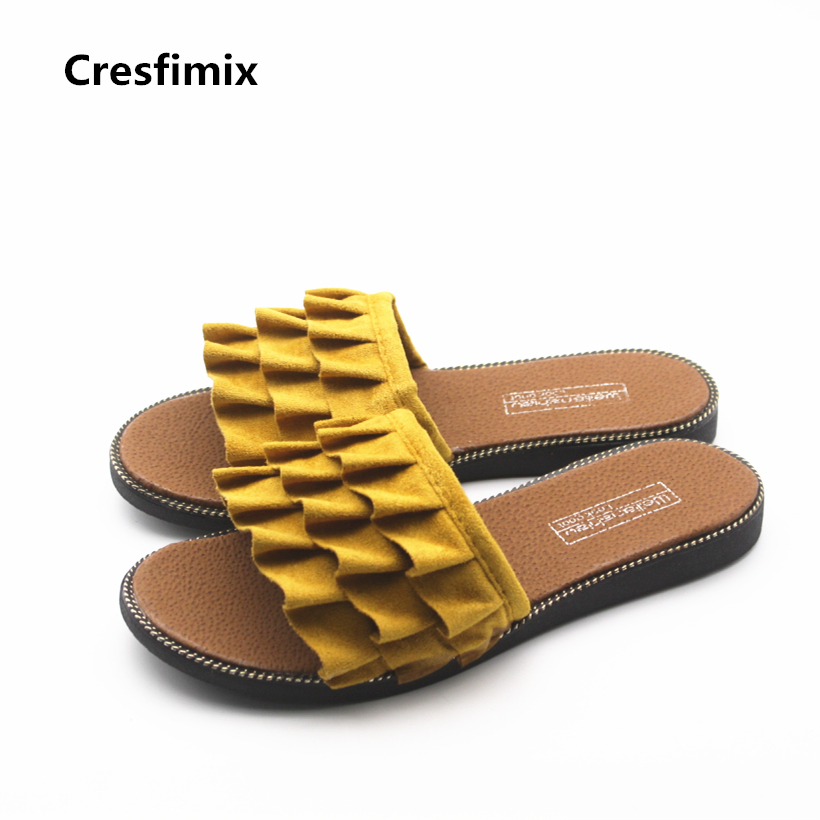 Cresfimix sandales pour femmes women fashion spring & summer slip on slippers lady cute beach outside slippers lady cool slipper cresfimix women fashion