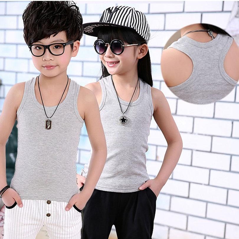 Children-Clothing-2017-Boy-Girl-Cotton-Vest-T-Shirt-Tops-Tee-Back-Kids-Toddler-Baby-90-160cm-Teenager-Underwear-8-Color-Elastic-2