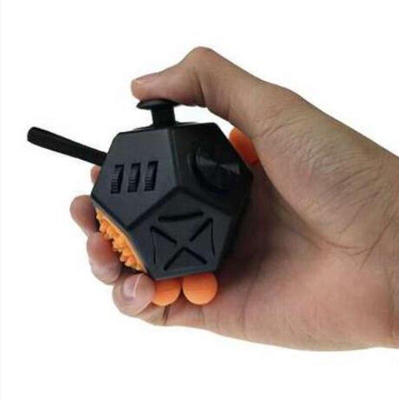 Cubo antistress 12 maneiras lados brinquedos para escritório dedo movimento dados ansiedade reliever enigma brinquedos criativos adhd presente