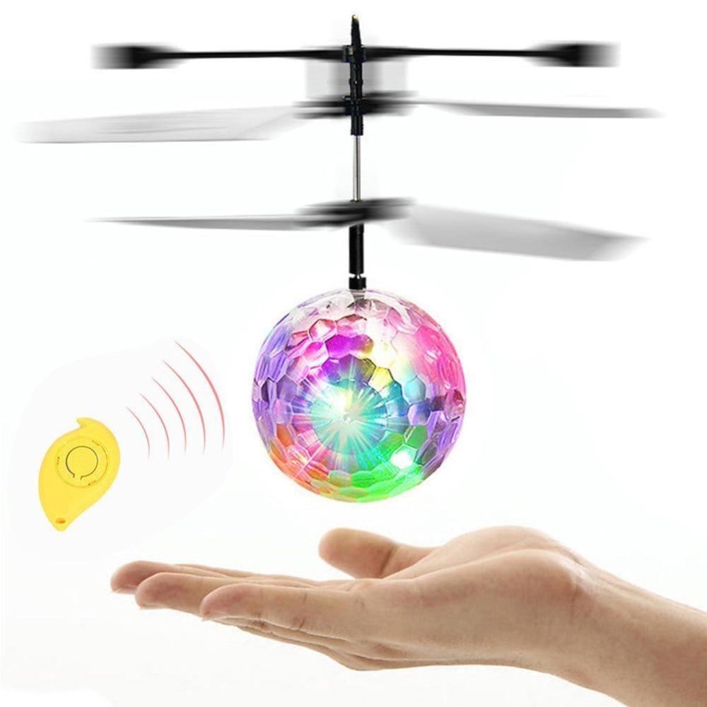 10 pcs/pack RC Ballon Lumineux Enfant de Vol Boules Électronique Infrarouge Induction Aéronefs Télécommande Jouets LED Lumière Jouets - 5
