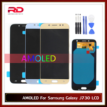 AMOLED For Samsung J7 Pro 2017 J730 LCD Display For Samsung J7 2017 J730F LCD Screen Touch Digitizer Assembly with Frame